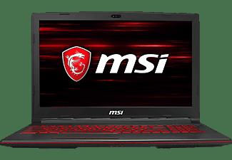 MSI GL63, Gaming Notebook mit 15.6 Zoll Display, Core™ i7 Prozessor, 16 GB RAM, 256 GB SSD, 1 TB HDD, GeForce® GTX 1650, Schwarz